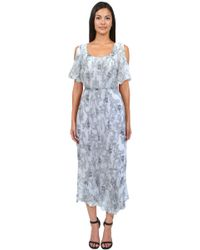 Anna Sui Iris Print Dress - Lyst