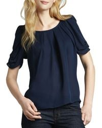 Joie Eleanor Gathered Silk Blouse - Lyst