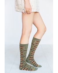 Pendleton Blanket Pattern Sock - Lyst