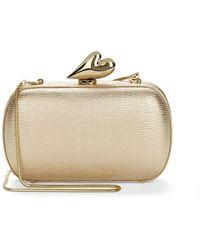 Diane von Furstenberg Love Embossed Leather Minaudiere - Lyst