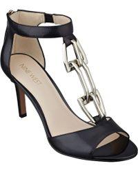 Nine West Iggloo T-Strap Sandals - Lyst
