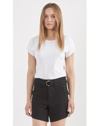 Theory Seblyn Cropped T-Shirt white - Lyst