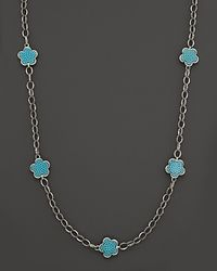 """Lagos - Sterling Silver Love Me, Love Me Not Necklace With Turquoise, 20"""" - Lyst"""