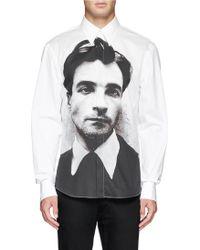 Alexander McQueen Oliver Bernard Portrait Poplin Shirt - Lyst