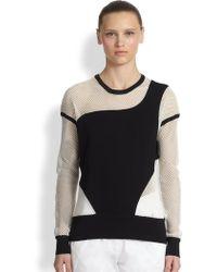 Ohne Titel | Mesh Panel Sweatshirt | Lyst