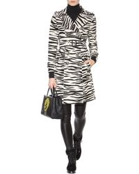 Burberry Prorsum - Printed Cotton And Silk Trench Coat - Lyst