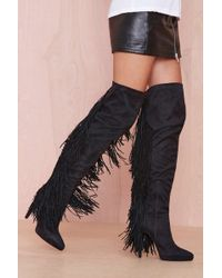 Nasty Gal Sampson Suede Boot - Lyst