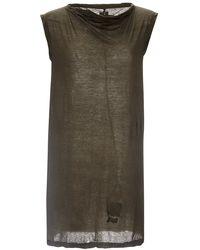 DRKSHDW by Rick Owens Asymmetrical Column T-Shirt In Dust - Lyst