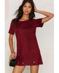 Nasty Gal | Roll With The Punches Vegan Suede Tee Dress | Lyst