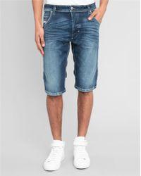Diesel Dark Denim Cro Short Bermuda Shorts blue - Lyst