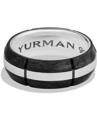 David Yurman Forged Carbon Band Ring - Lyst