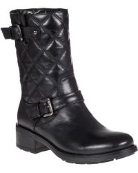 Aquatalia by Marvin K | Sherry Biker Boot Black Leather | Lyst