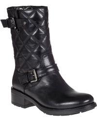 Aquatalia by Marvin K Sherry Biker Boot Black Leather - Lyst