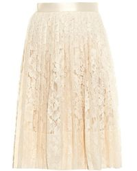 Givenchy Floral-Lace Cotton-Blend Skirt - Lyst