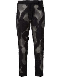 Ann Demeulemeester Embroidered Trousers - Lyst