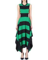 Stella McCartney Striped Bandeau-detail Dress - Lyst