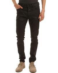 Diesel Tepphar Black Oiled Slim Fit Jeans - Lyst