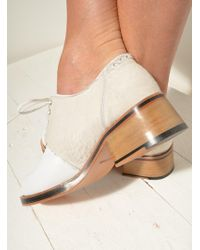Kult Domini - Signature Brogue In White Pony & Leather - Lyst