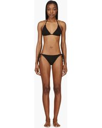 Chloé Black Scalloped Triangle Bikini - Lyst