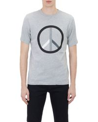 Saturdays Surf Nyc Gray Peace T-Shirt - Lyst
