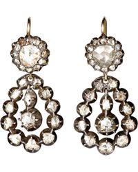 Olivia Collings - Antique Double-Drop Earrings - Lyst