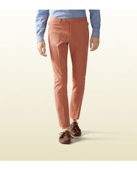 Gucci Stretch Gabardine Sharp Pant - Lyst