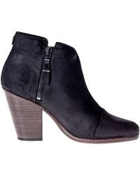 Rag & Bone Double-Zip High Heel Ankle Boot black - Lyst