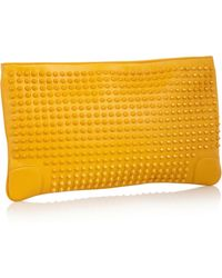 Christian Louboutin Loubiposh Spiked Leather Clutch - Lyst