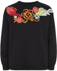 Christopher Kane Floral Appliquã Sweater - Lyst