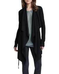 Helmut Lang Womens Long Open Cascade Cardigan - Lyst