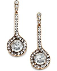 Oscar de la Renta Jeweled Pendant Drop Earrings - Lyst