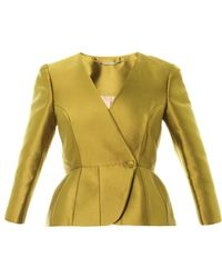 Matthew Williamson Luster Tailored Peplum Jacket - Lyst