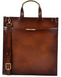Ferragamo - Edition Leather Tall Briefcase - Lyst