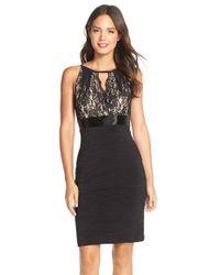 JS Boutique | Lace & Jersey Sheath Dress | Lyst