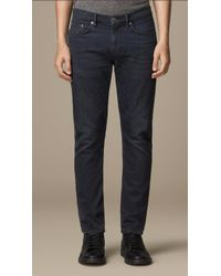Burberry Slim Fit Washed Indigo Jeans - Lyst