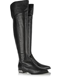Sergio Rossi Leather Over-the-knee Boots - Lyst