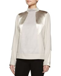 Jason Wu Mock-Neck Alpaca-Blend Pullover - Lyst