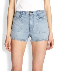 Theory Brendan Stretch Denim Shorts - Lyst