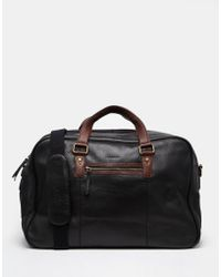 Barneys Originals - Barneys Leather Holdall Bag - Lyst