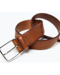 Zara Soft Leather Fancy Belt - Lyst