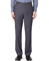 Calvin Klein Dylan Twill Plaid Pants - Lyst
