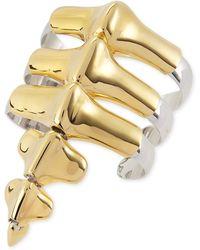 Noir Jewelry - Vertebrae Two-Tone Cuff Bracelet - Lyst