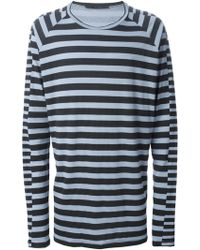 Haider Ackermann Checked Long Sleeve T-Shirt - Lyst