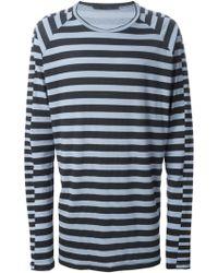 Haider Ackermann Checked Long Sleeve T-Shirt - Lyst