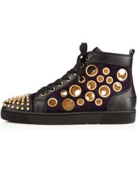 Christian Louboutin Bubble Spike Mens Flat - Lyst