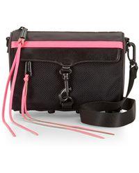 Rebecca Minkoff Mini M.A.C. Crossbody pink - Lyst