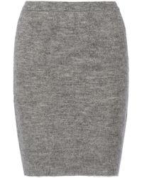 Alexander Wang Wool-blend Skirt - Lyst