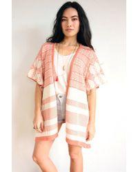 Goddis Fritz Knit Kimono - Lyst