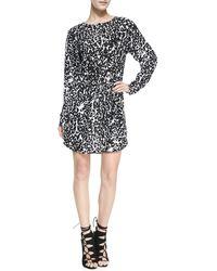 A.L.C. Simona Leopard Print Dress - Lyst