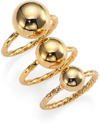 Giles & Brother Twist  Ball Triple Ring Set - Lyst